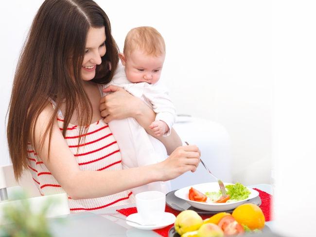 похудеть кормящей маме в домашних условиях